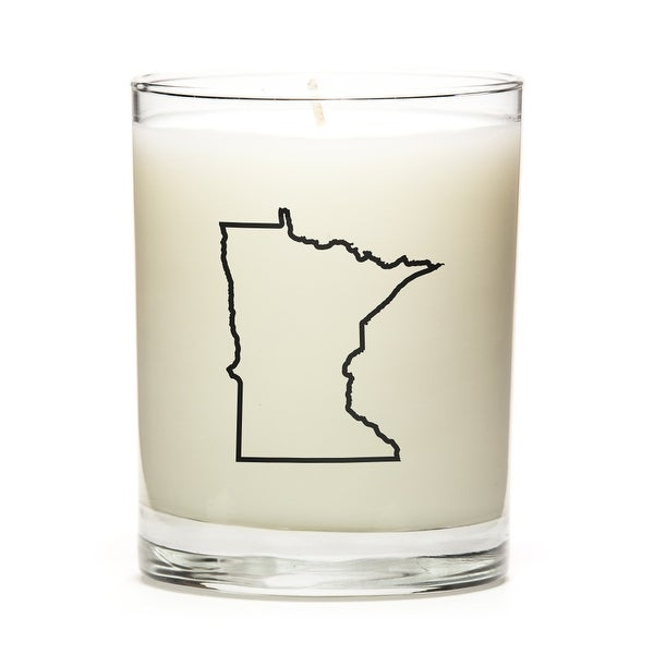 State Outline Candle, Premium Soy Wax, Minnesota, Peach Belini