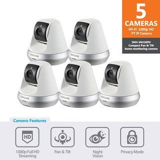 5-pack of SNH-V6410PNW - Samsung 1080p Full HD Wi-Fi Pan & Tilt IP Camera (White Version)