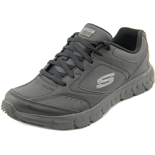 Skechers Soleus-Explaration Women Round Toe Leather Black Walking Shoe