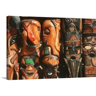 African wooden-craft carvings, Mpumalanga Province, South Africa - Multi-Color