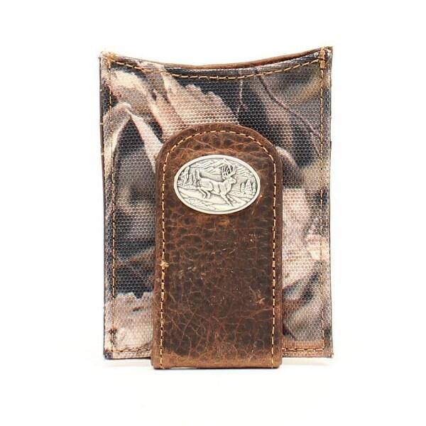 Ariat Western Wallet Mens Money Clip Deer Concho Camo Bonz - One size