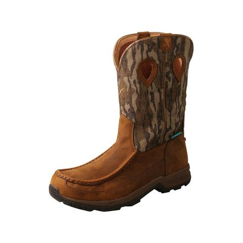 Twisted X Outdoor Boots Mens WP 11 Hiker Leather Mossy Oak - Mossy Oak Camo