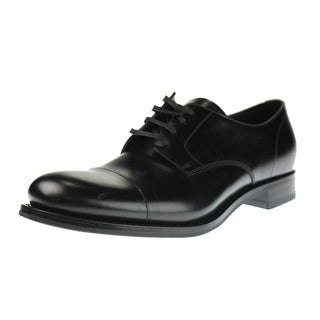 Prada Mens Leather Derby Cap Toe Oxfords - 9.5