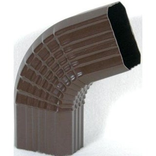 Genova AB201B Duraspout Gutter Side Elbow, B-Style, Brown Vinyl