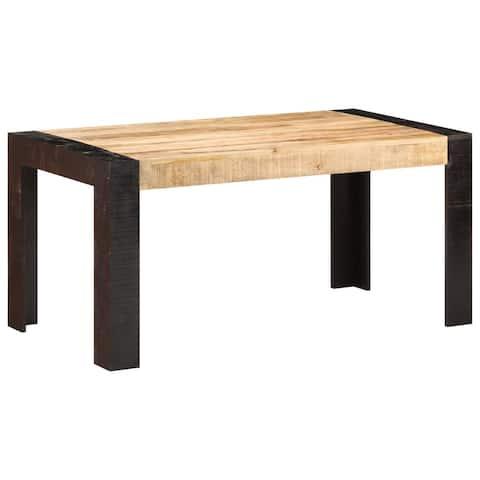 "vidaXL Dining Table 63""x31.5""x29.9"" Solid Mango Wood"