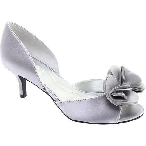 Bandolino Women's Norcia D'Orsay Pump Light Grey Satin