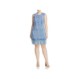 Nic + Zoe Womens Plus Casual Dress Pintucked Printed (3 options available)