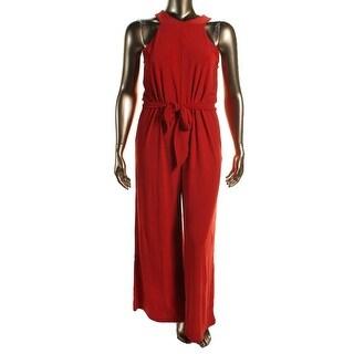Lauren Ralph Lauren Womens Plus V-Neck Sleeveless Jumpsuit - 2X