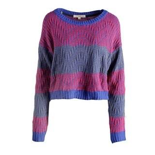 Rewind Womens Juniors Pullover Sweater Striped Chevron