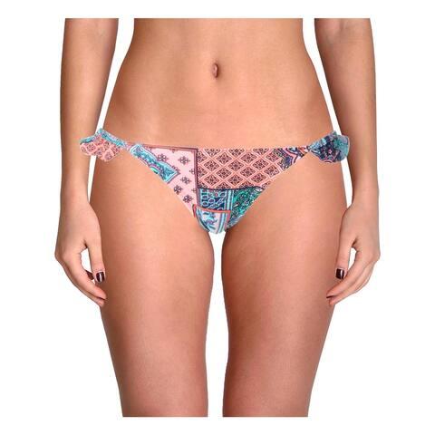 Gossip Womens Hipster Cheeky Bikini Swim Bottom - Pink-Multi - S