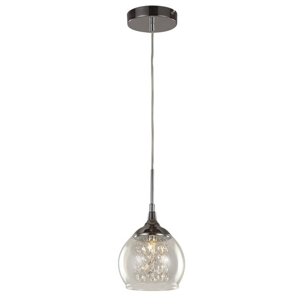 Trans Globe Lighting MDN-1217 Glass and Crystal 1 Light Mini Pendant