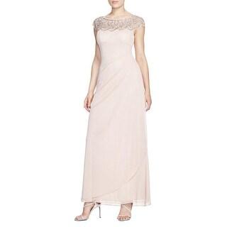 Aqua Womens Evening Dress Ruched Beaded