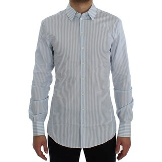 Dolce & Gabbana Blue Striped Slim SICILIA Shirt