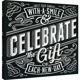"PTM Images 9-101001  PTM Canvas Collection 12"" x 12"" - ""Honest Words - Celebrate"" Giclee Smile Art Print on Canvas"