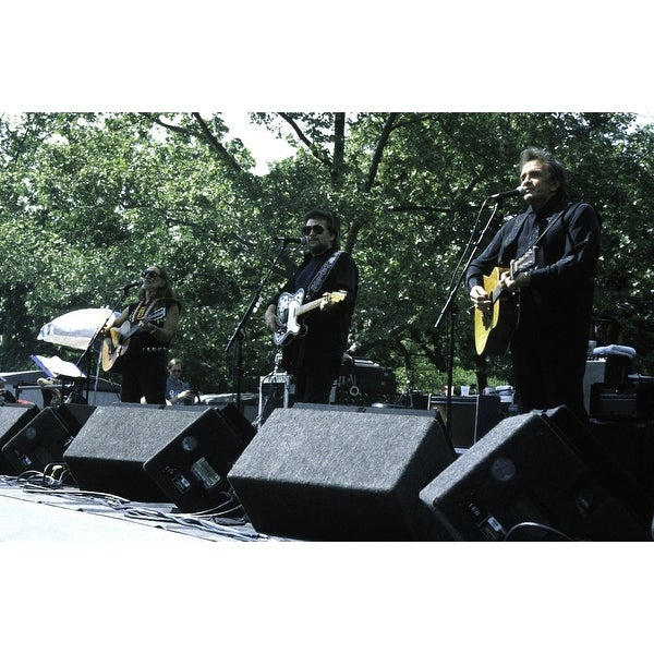 c86bb3c97e98d Shop Willie Nelson Waylon Jennings and Johnny Cash at the You Gotta Have  Park event in New York City Photo Print - Free Shipping On Orders Over  45  ...