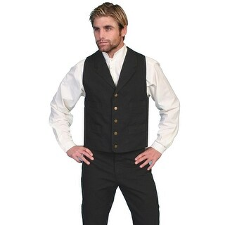 Scully Old West Vest Mens Western Lined Button Cotton Canvas