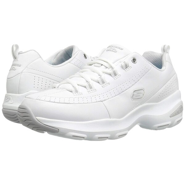 SKECHERS D'Lite Ultra 12289 Womens White Sneakers Lace Up Size 8 US