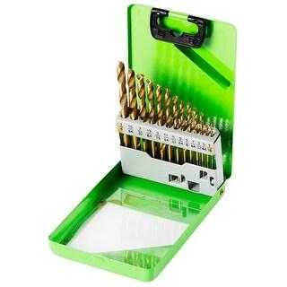 Kawasaki 13 pc Titanium Coated HSS Twist Drill Bit Set - 840286 - Green/Black