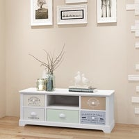 Costway High Gloss TV Stand Unit Cabinet Media Console Furniture w ...