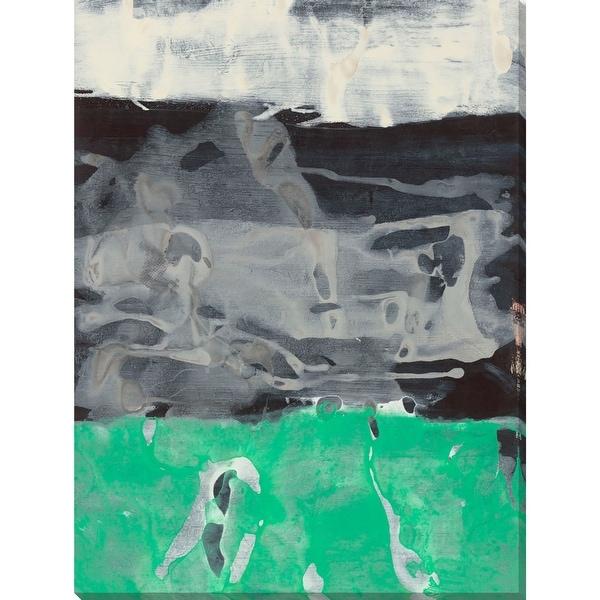 "Green and Gray Rectangular Canvas Wall Art Decor 40"" x 30"" - N/A"