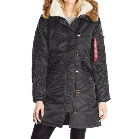 Alpha Industries Womens Gen 1 Parka Black Size Small S Faux Fur Collar