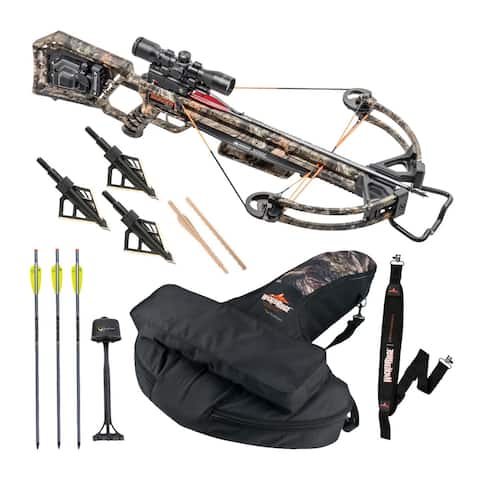 Wicked Ridge Invader X4 360 FPS Crossbow Kit with Case & Strap Bundle
