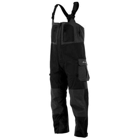 Frogg Toggs Mens Pants Black Gray Size Large L Two Tone Suspender