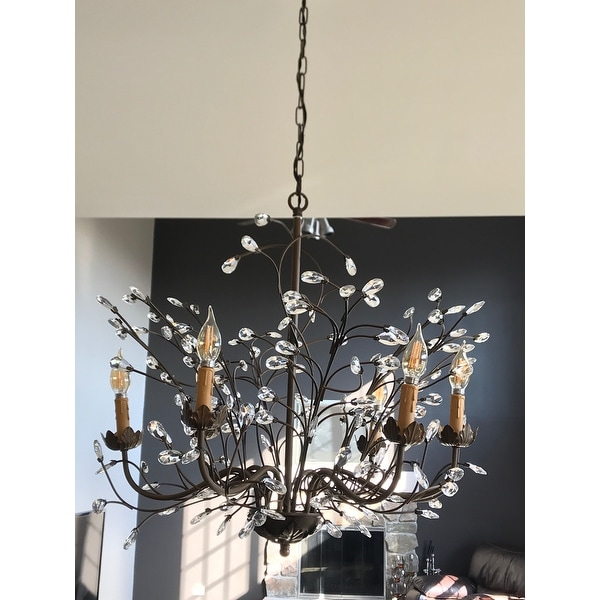 Shop Copper Grove Rockwood Antique Bronze 6-light Crystal and Iron  Chandelier - On Sale - Free Shipping Today - Overstock.com - 20461127 - Shop Copper Grove Rockwood Antique Bronze 6-light Crystal And Iron