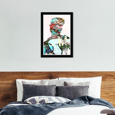 Hatcher & Ethan 'Still Graffiti' Wall Art Framed Print - Blue, Blue