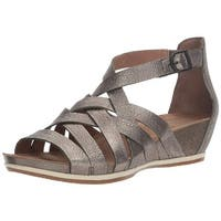 Dansko Womens Vivian Leather Open Toe Casual Strappy Sandals