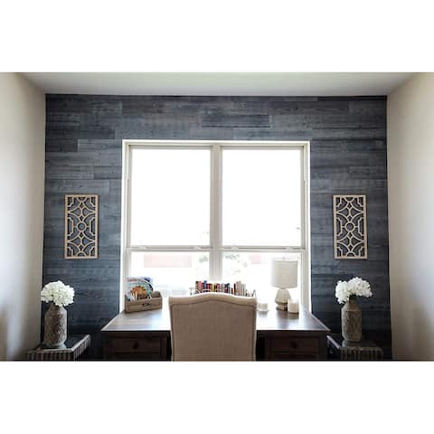 Timberchic Reclaimed Wooden Wall Planks - Peel and Stick Application (Fog Lake)