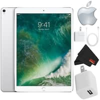 Apple iPad Pro 10.5 inch (64GB, Wi-Fi 4G LTE, Silver) Mid 2017 Version - Bundle