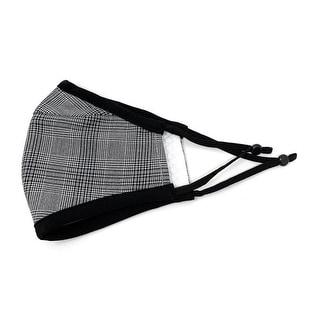 Men's Reusable Fashion Cloth Face Mask with Adjustable Straps, Buffalo Plaid - Multi-color
