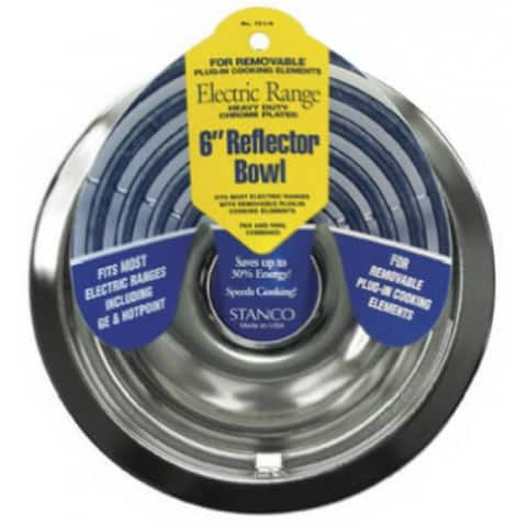 """Stanco 701-6 Reflector Bowl For Removable Electric Ranges, Chrome Plated, 6"""""""