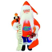 "15"" NCAA Florida Gators Santa Claus Christmas Figure with Nutcracker & Stocking - Orange"