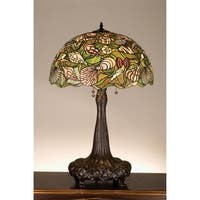 Meyda Tiffany 44891 Stained Glass / Tiffany Table Lamp from the Seashell Collection - n/a