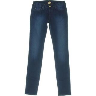 True Religion Womens Stella Skinny Flap Pocket Denim Jeans