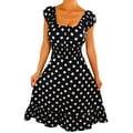 Funfash Plus Size Black White Polka Dots Womens Rockabilly Dress - Thumbnail 0