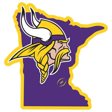 Minnesota Vikings Home State 11 Inch Magnet - Multi