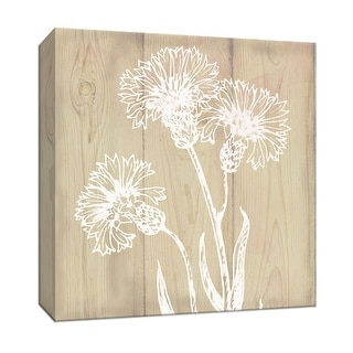 """PTM Images 9-147174  PTM Canvas Collection 12"""" x 12"""" - """"White Silhouette II"""" Giclee Flowers Art Print on Canvas"""