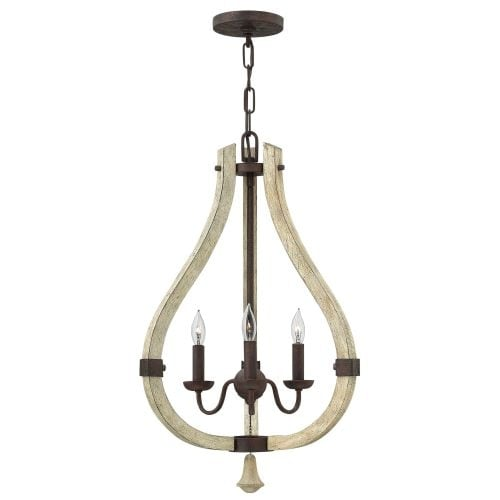 Fredrick Ramond FR40573 3 Light Candle Style Pendant from the Middlefield Collection