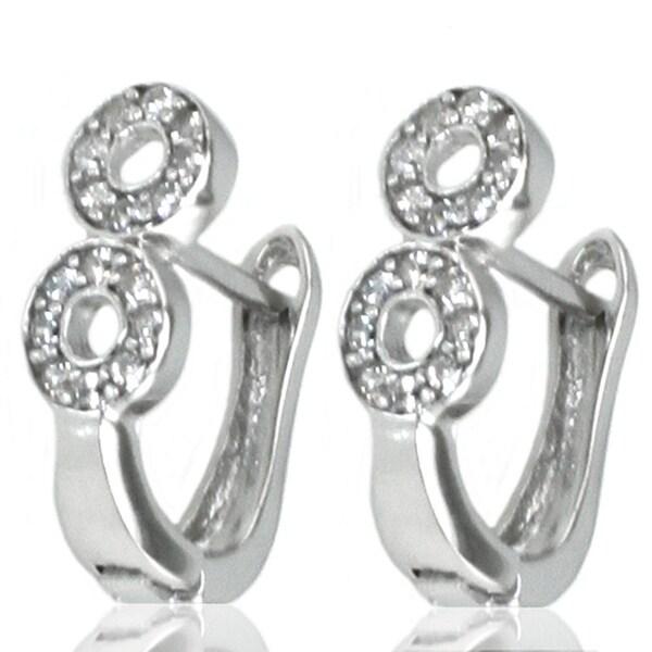 Sterling Silver Figure 8 Cubic Zirconia Earrings
