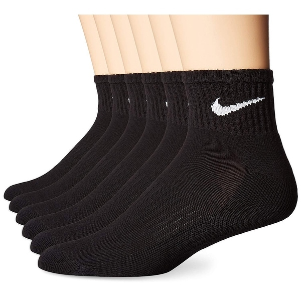 55798506e Shop Nike Performance Cotton Cushioned Quarter Socks - (6 Pairs) - Free  Shipping On Orders Over $45 - Overstock - 22719149