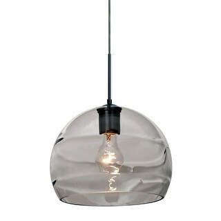 Besa Lighting 1JT-SPIR10SM Spirit 1-Light Pendant with Smoke Glass Shade - N/A