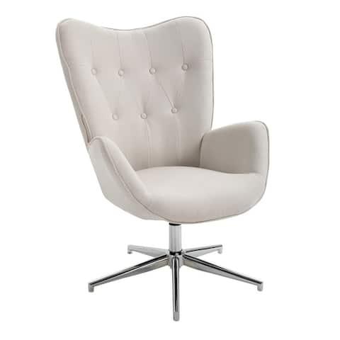 FurnitureR Mid-Century Modern Leisure Accent Chair