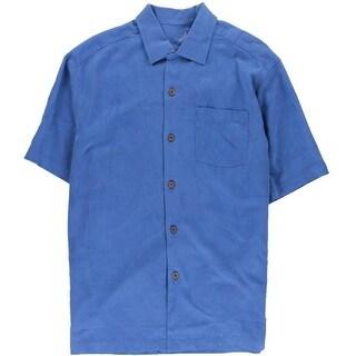 Tommy Bahama Mens Bird It Through The Grapevine Silk Button-Down Shirt