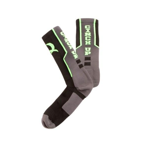 Cinch Socks Mens Crew Logo Reinforced Comfort Black