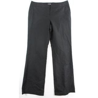 Halogen NEW Black Women's Size 14X34 Flat Front Taylor Fit Dress Pants