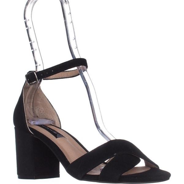 STEVEN Steve Madden Voomme Dress Sandals, Black Suede