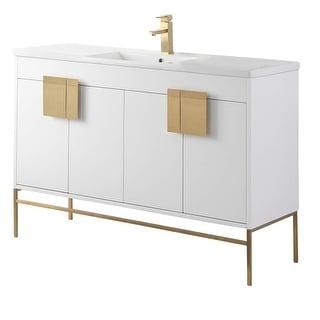 Link to Modern 48-inch Single-sink Vitreous China Bathroom Vanity Set Similar Items in Bathroom Vanities